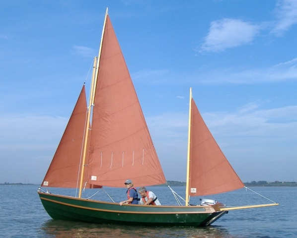 Drascombe by Churchouse Boats, Drascombe Lugger, trailer sailer, day boat, yawl, tan sails