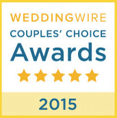 2015 Couple's Choice Award from WeddingWire!