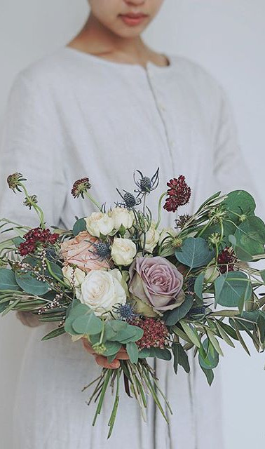 Antique + Natural Greenery Bouquet