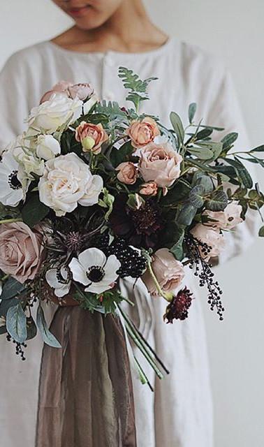 Antique + Rustic Wedding Bouquet