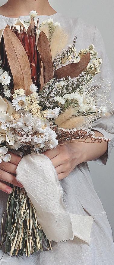 White Rustic Bouquet