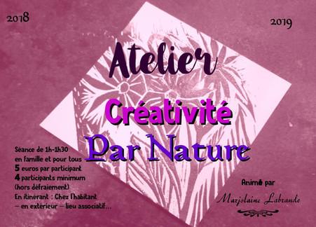 atelier créativité par nature
