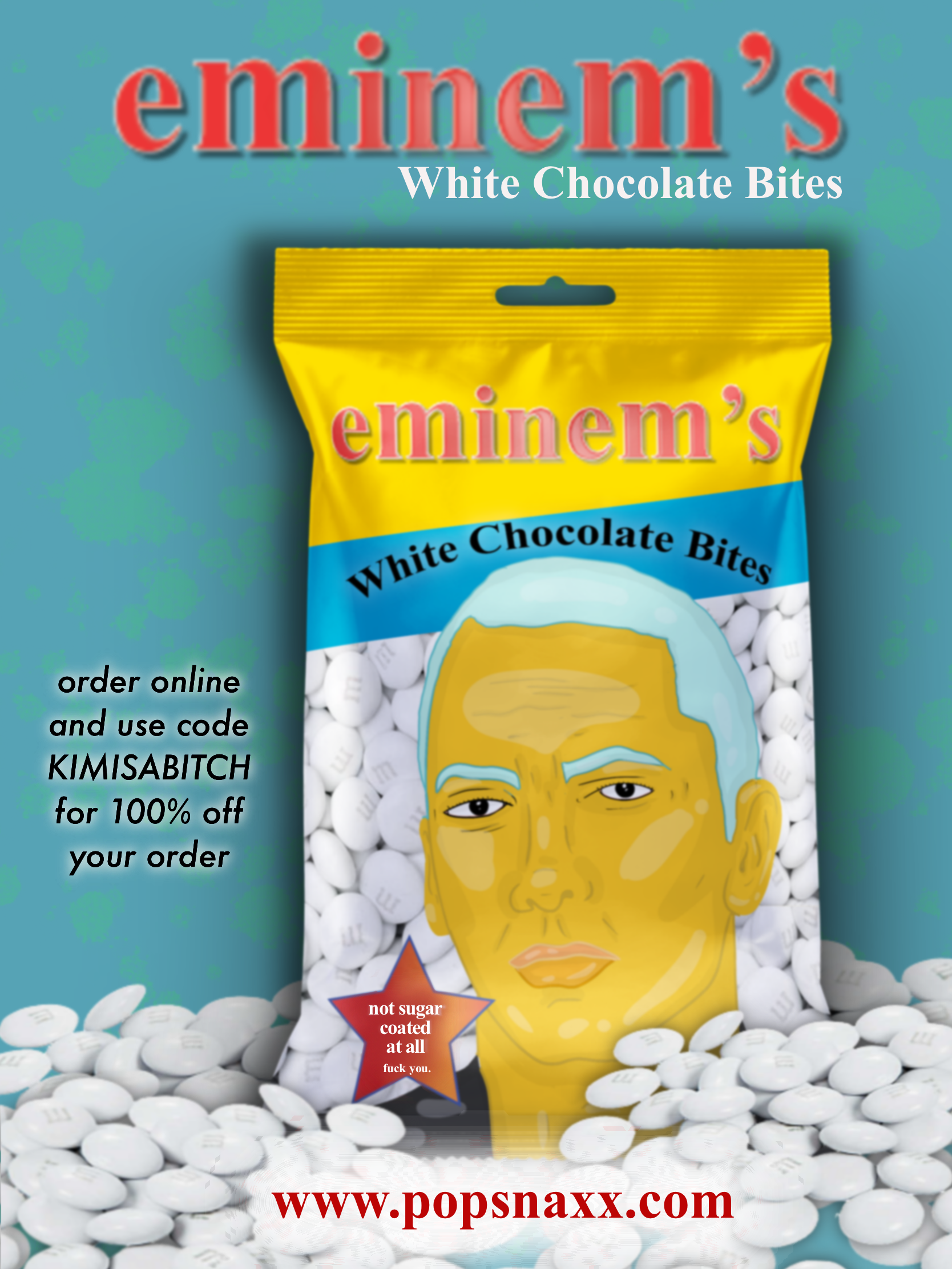 eminem's white chocolate bites