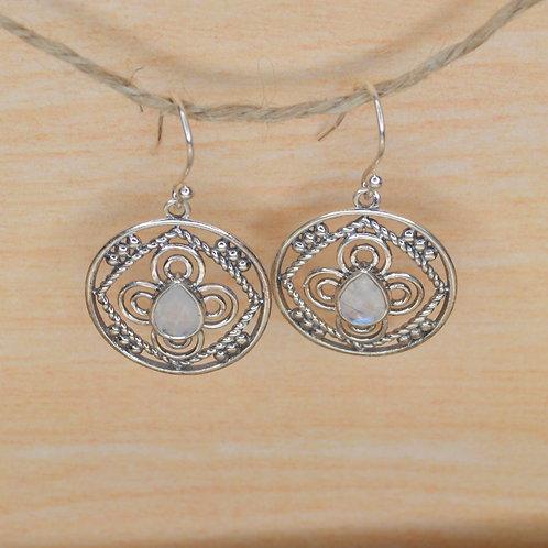 Rainbow Moonstone Earrings 1299