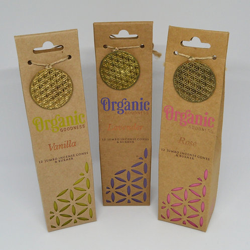 Organic Goodness- Incense Cones with Burner