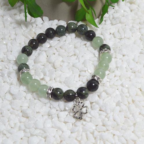 Bracelet- Kambaba Jasper and Green Aventurine
