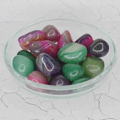 Agate (Coloured) Tumbles medium