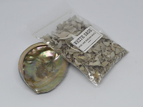 Abolone Shell with White Sage