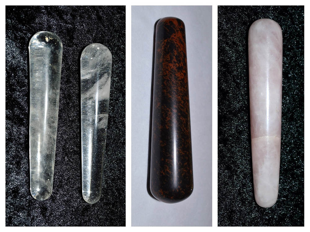 Why are gemstones shaped into wands?