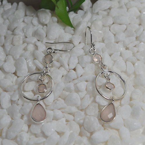 Rose Quartz Earrings 1309
