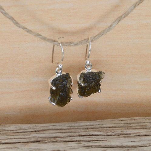 Moldavite Earrings 1302