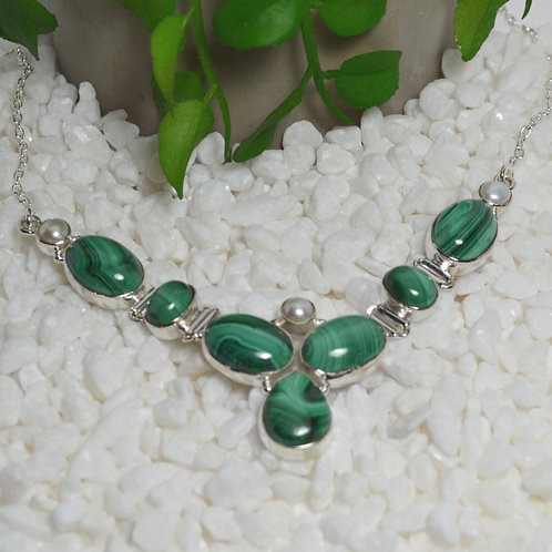 Malachite Necklace 1314