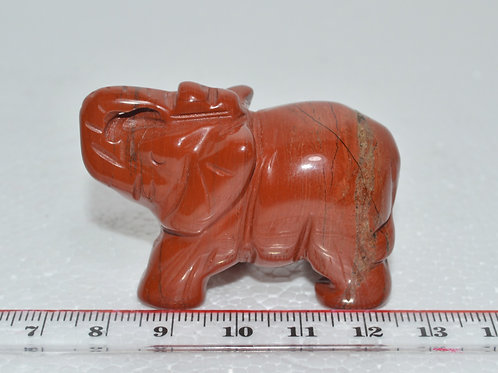 Carved Gemstone Elephants