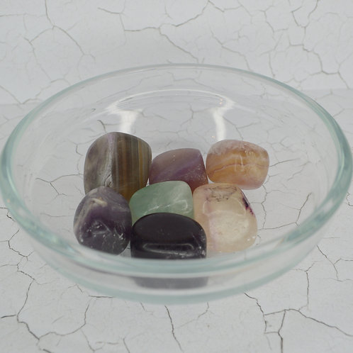 Fluorite Tumbles medium