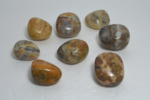 Crazy Lace Agate Tumbles medium
