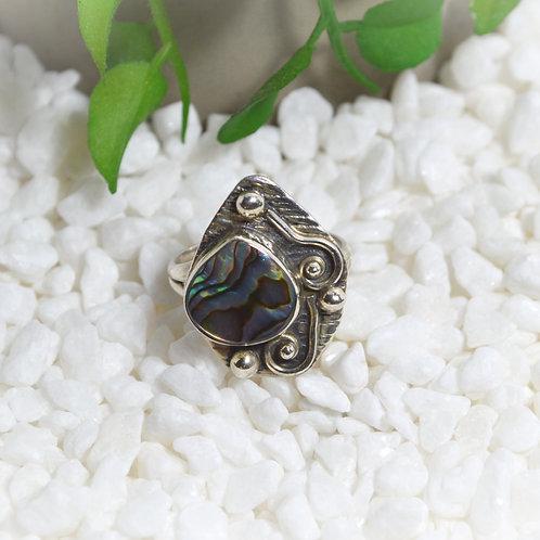 Paua Shell Ring 1127
