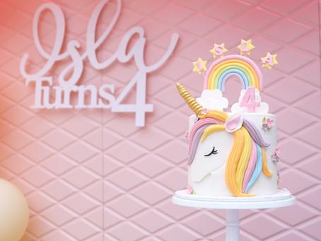 A Party of Rainbow Unicorn Dreams