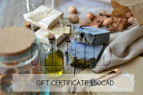 Gift Certificate for $50 CAD