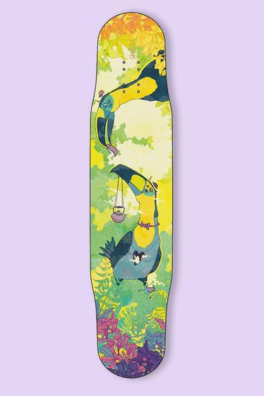 Skateboarddesign Toucan friendos