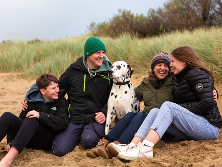 Family photo shoots with older children - Cornwall family photographer.