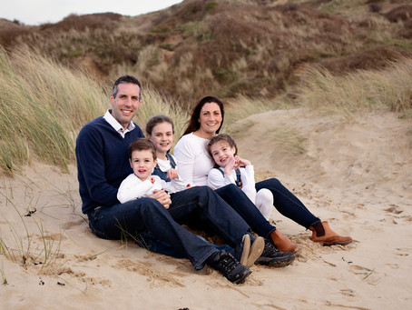 Popular locations for family photo shoots in Cornwall.