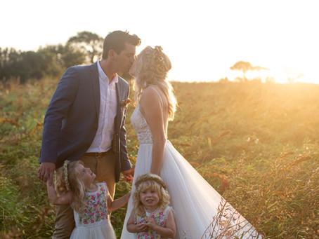 Small intimate Cornish wedding - Little Oak Cornwall
