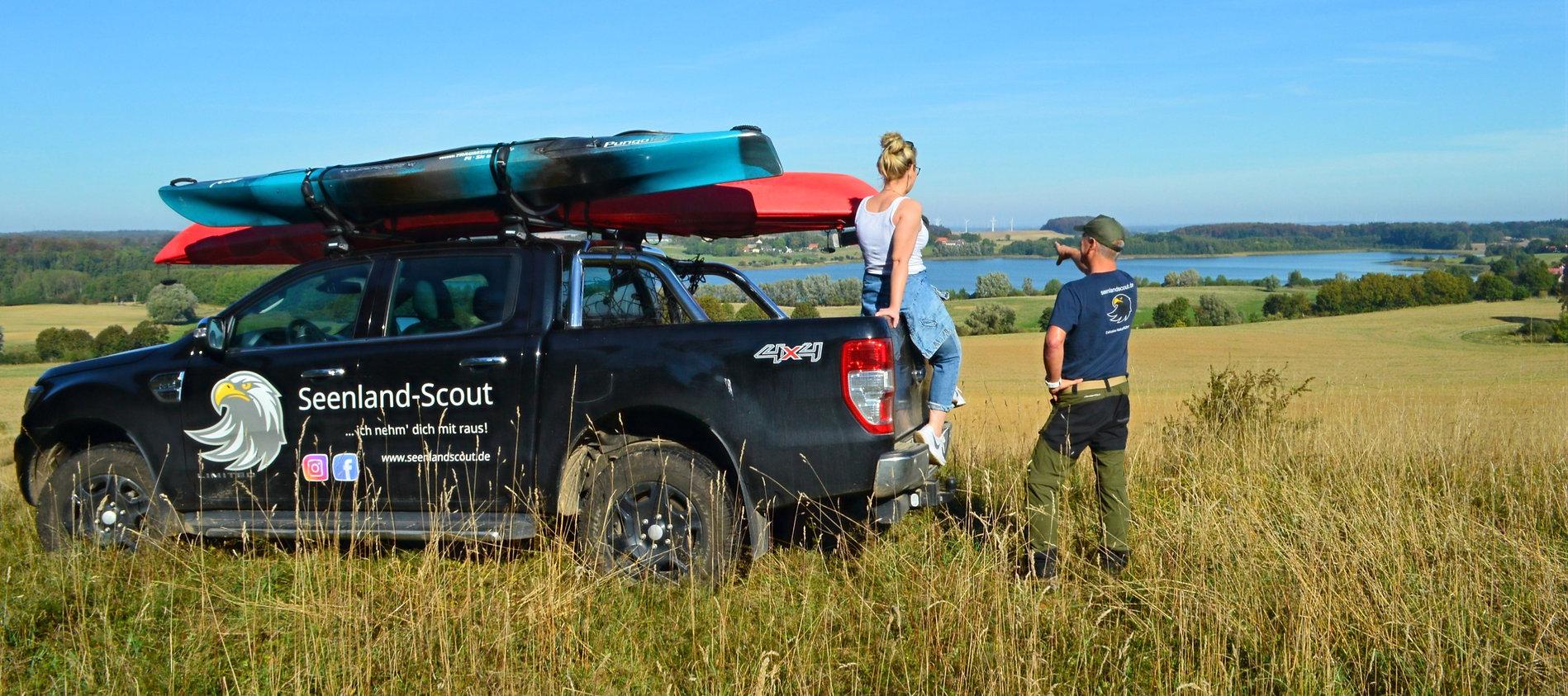 Mit dem Geländewagen im Seenland