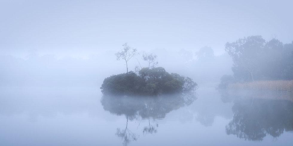 Newport Lakes Foggy Dawn