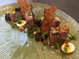 Ham Hock - Quails Egg - Watercress - Black Pudding