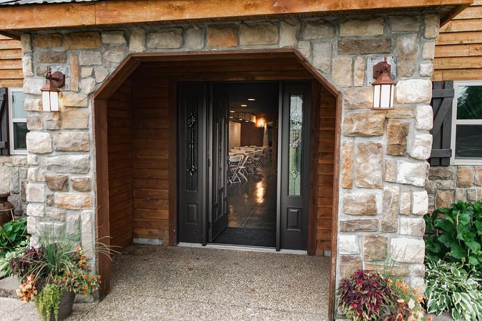 Timber Line Barn entrance