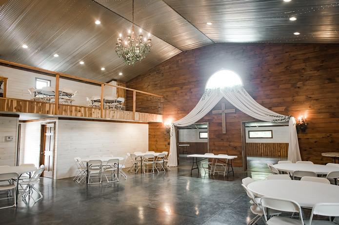 Loft seating wedding venue