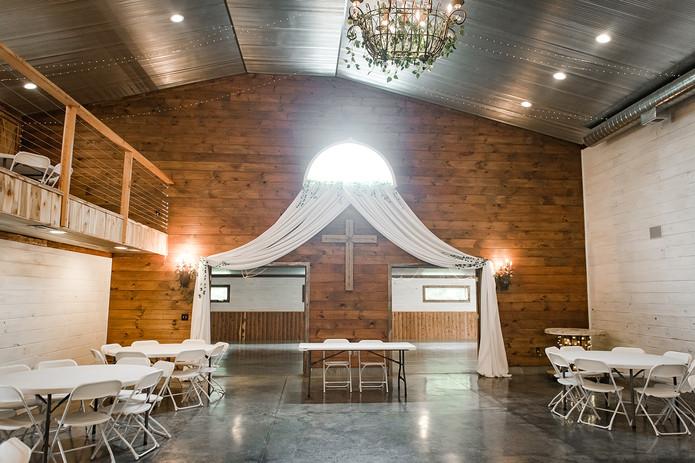 Draping Rustic wedding venue