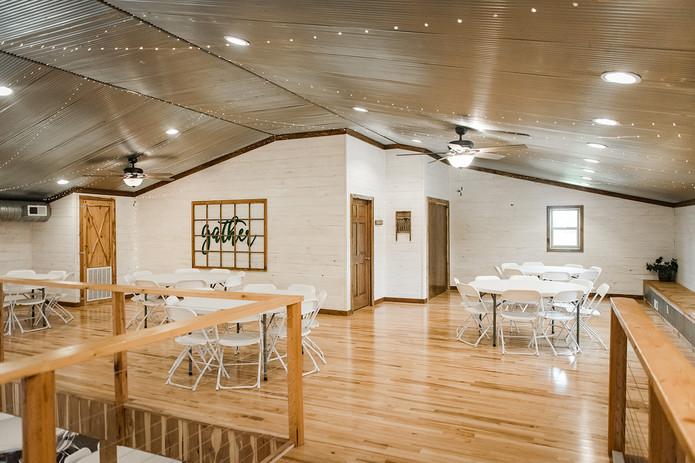 white wall wedding venue