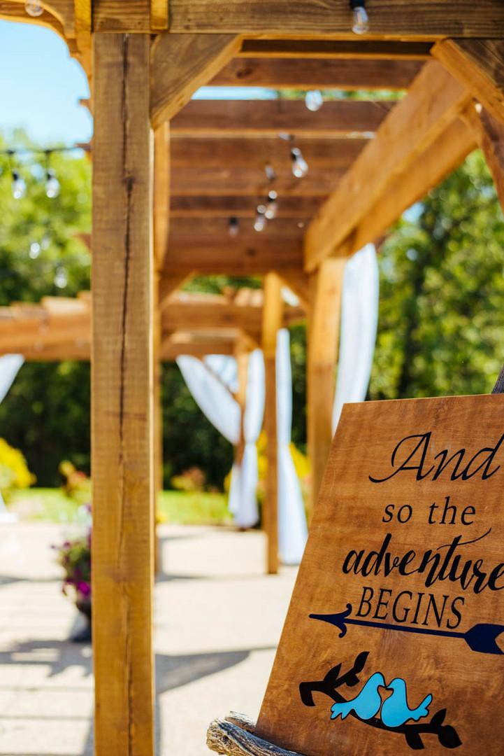 pergola wedding outdoor ceremony