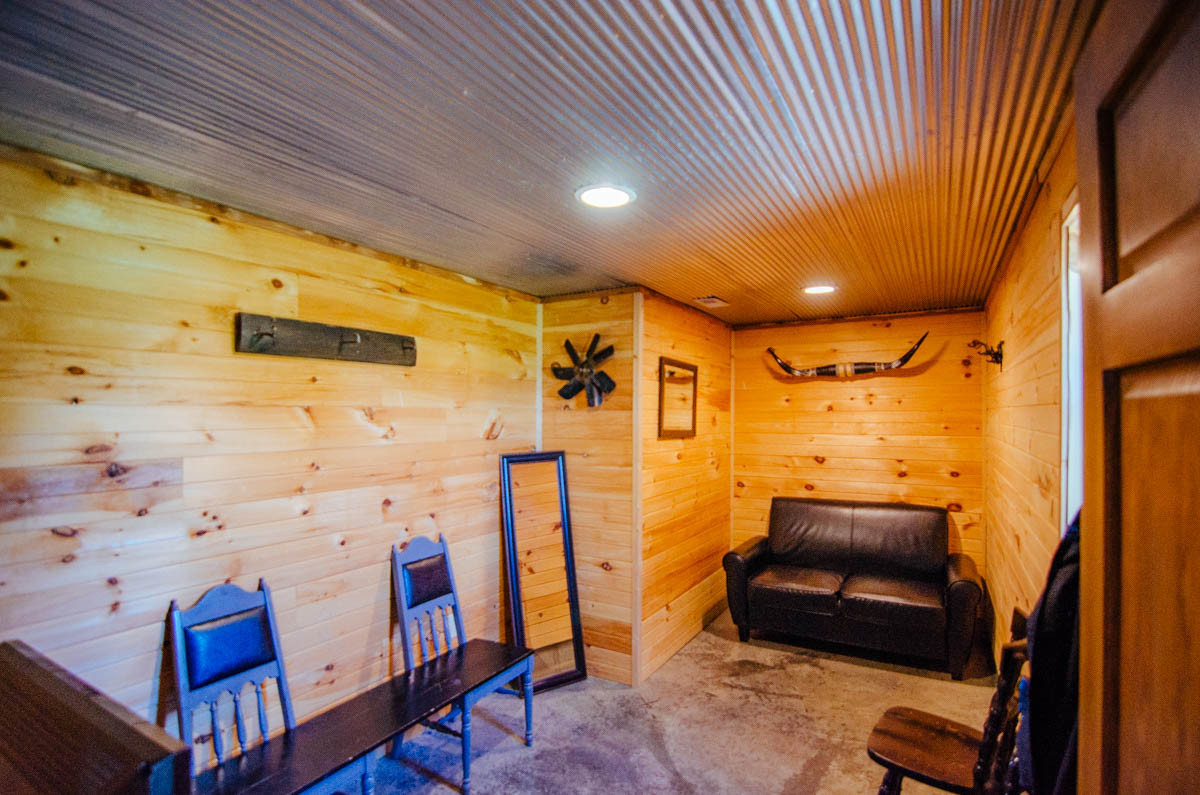 black and wood groom suite