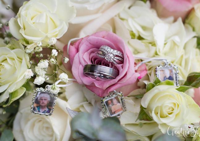 spring florals rings wedding venue