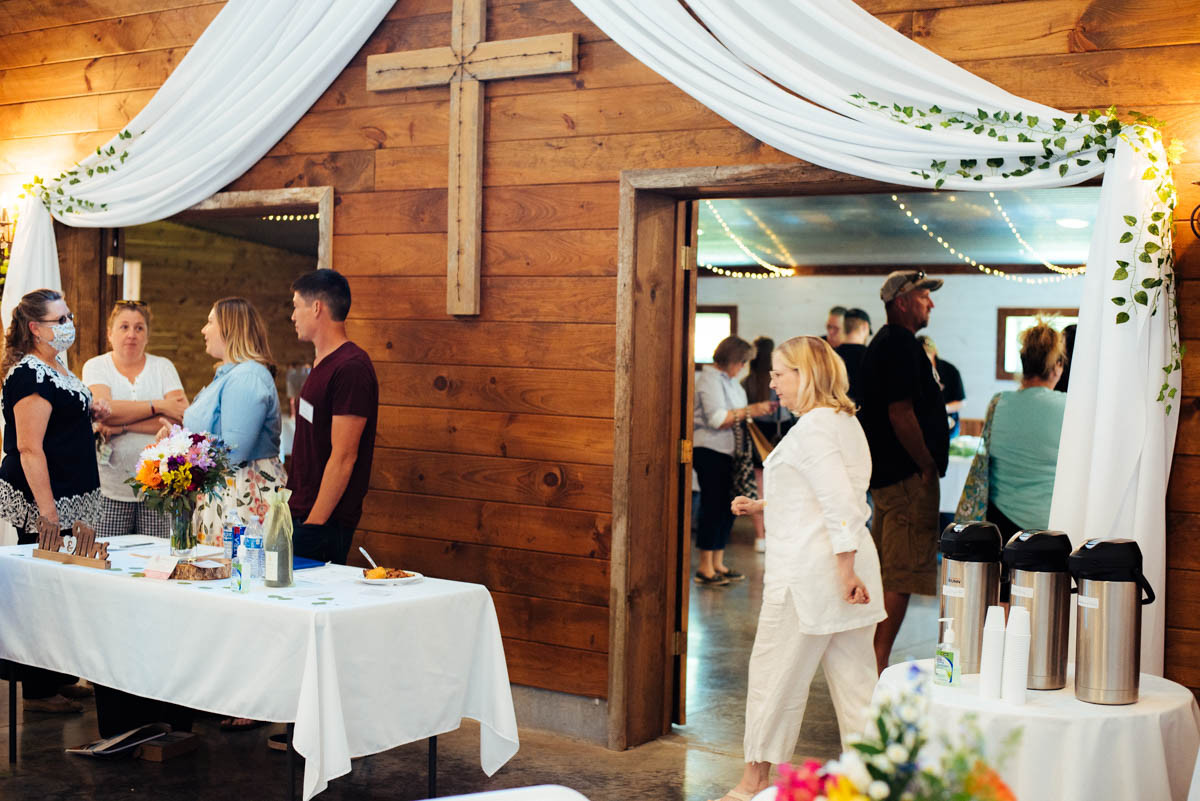 Classy Draping Barn Wedding