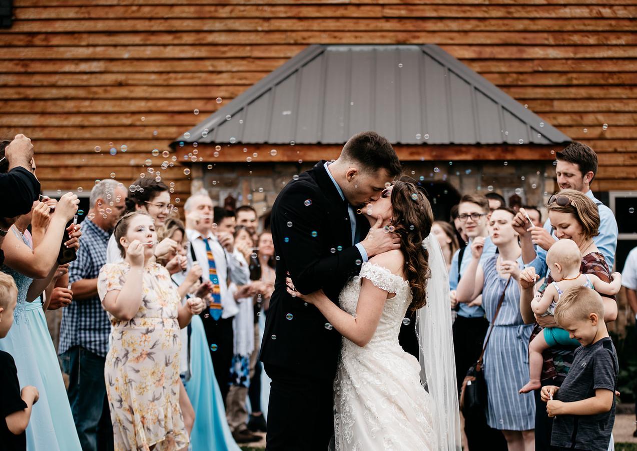 send off rustic wedding venue