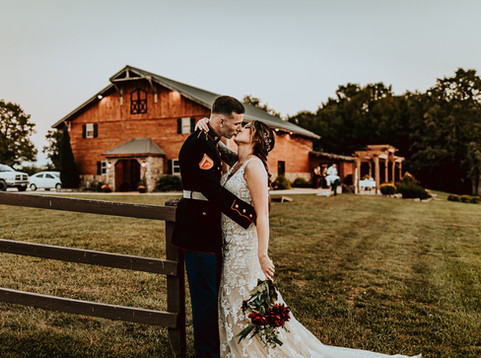 Red, Green and Gold Fall Wedding