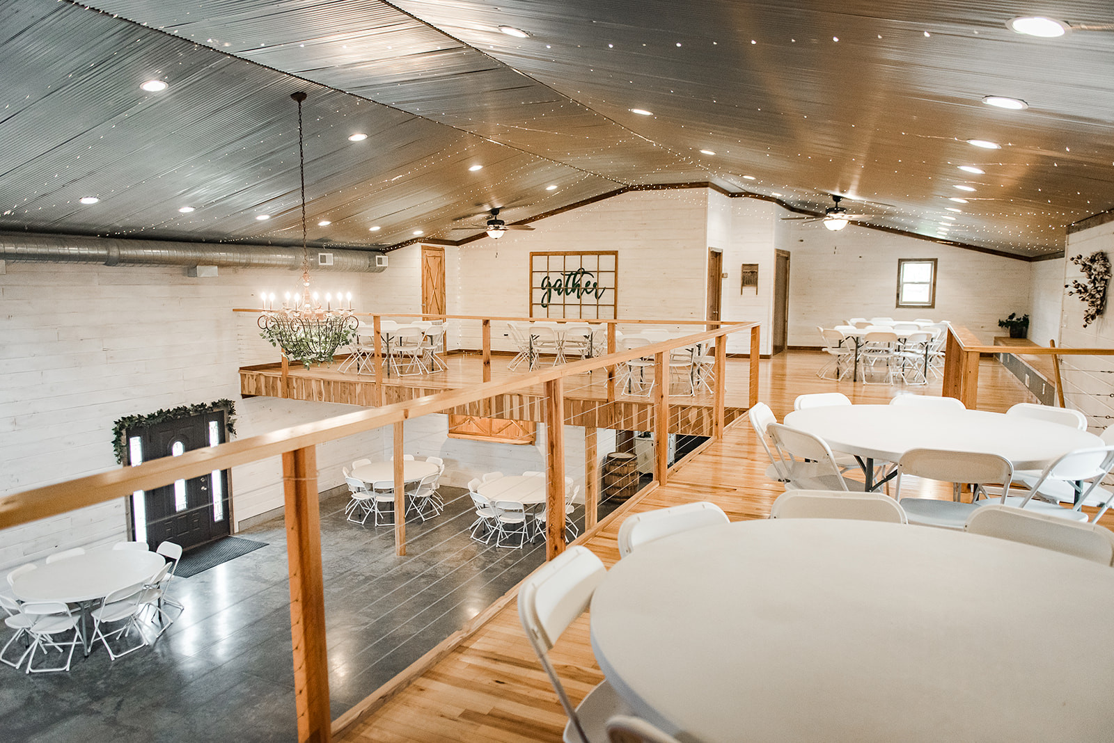 White barn wall wedding venue
