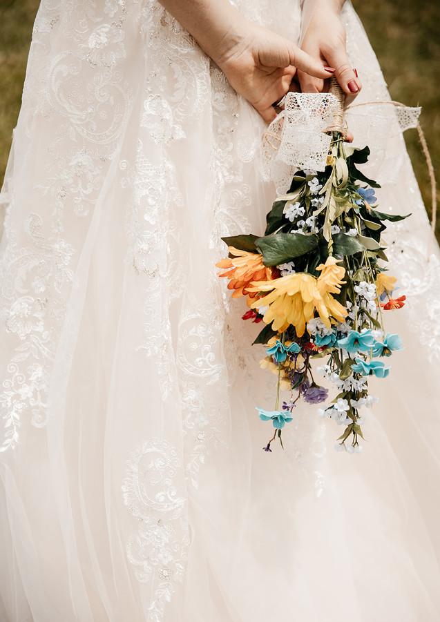 wildflowers rustic wedding
