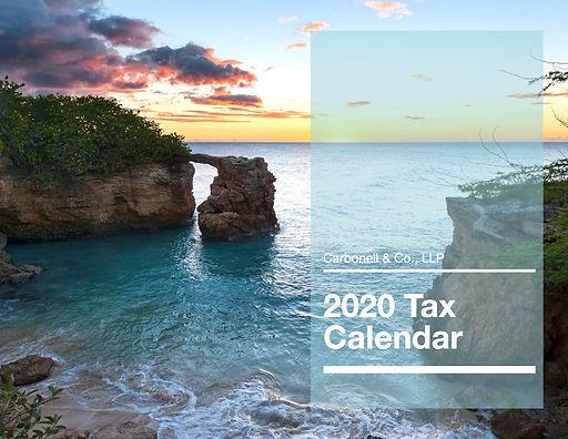 2020 Tax Calendar