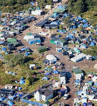 Vue aerienne Jungle de Calais_Photo Deni