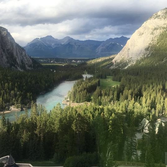 Views from Fairmont Banff Springs Hotel.