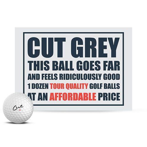Cut Grey Golf Balls