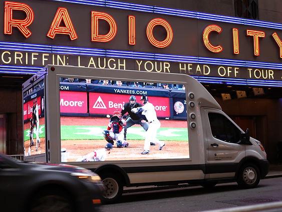 The Yankees Mobile Billboard.