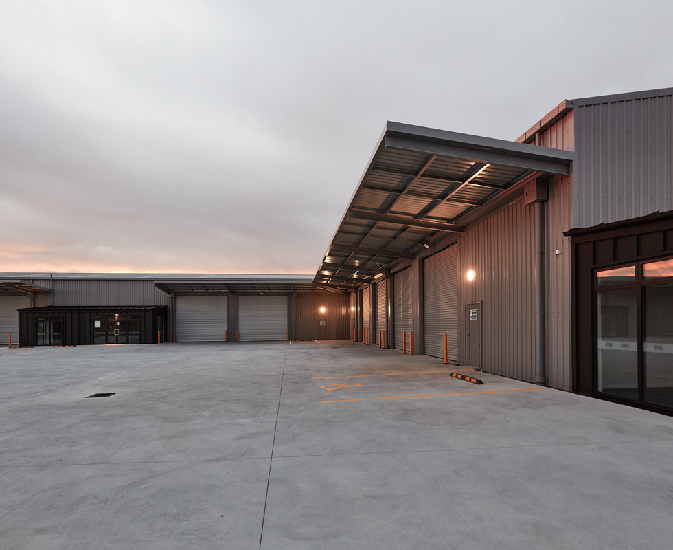 Greywacke commercial warehouse development