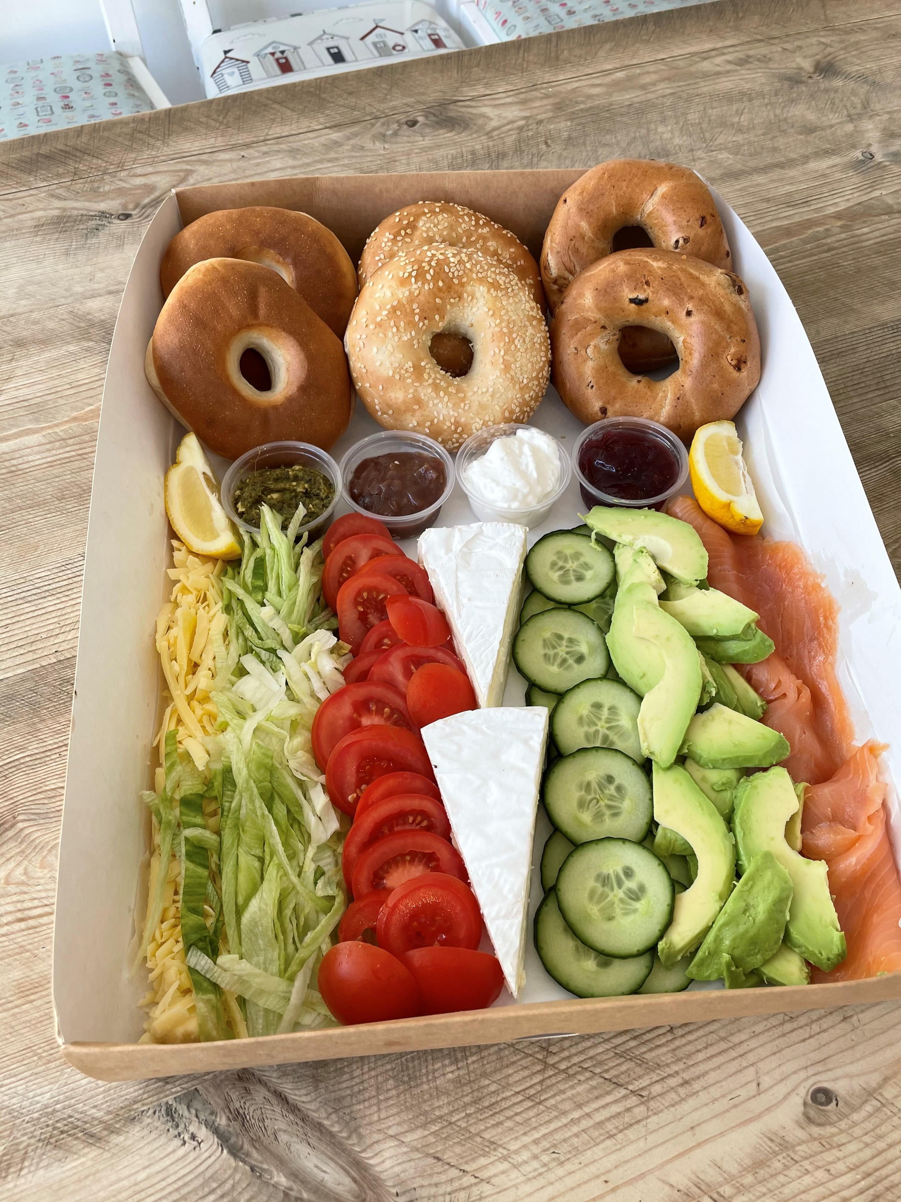 Vegetarian or Pescatarian Bagel Box