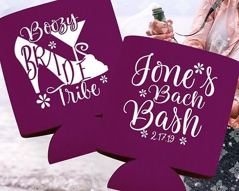 Boozy Bride Tribe Bachelorette Can Cooler