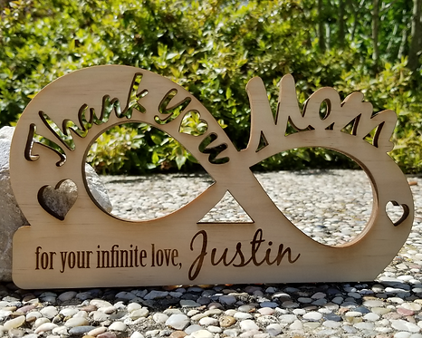 Thank You Mom For Your Infinite Love Personalized Plaque